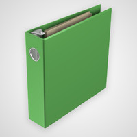 3d rigged 3 ring binder model