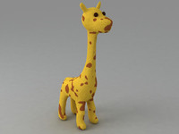 giraffe toy 3d model