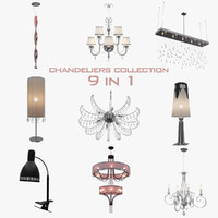 3ds mega chandeliers lamp
