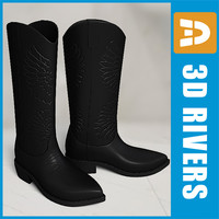 Black western boots by 3DRivers