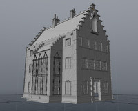 buildings 15th century 3d obj