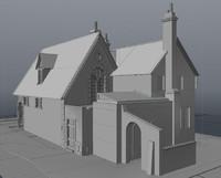 3d brugge building 6 model