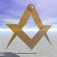 3d masonic square compass