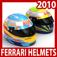 2010 F1 Fernando Alonso and Felipe Massa Helmets