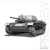 3d su-76i soviet gun 76