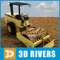 Vibratory soil compactor 02 by 3DRivers