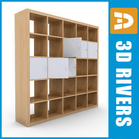 furniture bookcase 3d 3ds