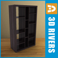 bookcase furniture bookshelf 3ds
