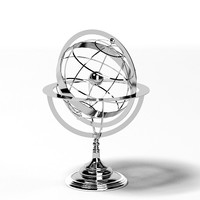 eichholtz chrome metal globe large accessories