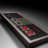 3d model of controller nes