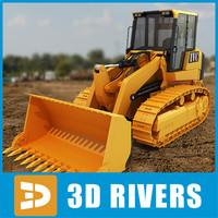 track loader industrial vehicles 3ds