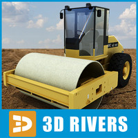 Vibratory soil compactor 04 by 3DRivers