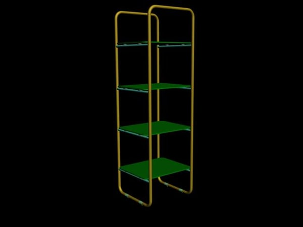 3d glass chrome shelving unit - Glass and Chrome shelving unit... by vitaloverdose
