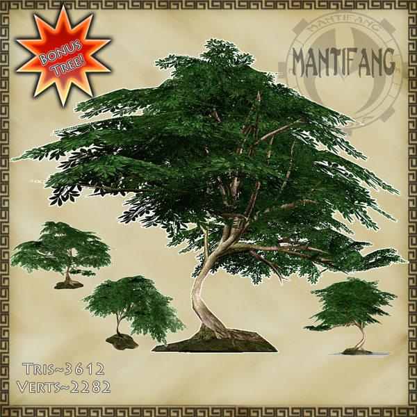 3d country tree foilage model - Country Oak Tree & Texture Collection... by Mantifang