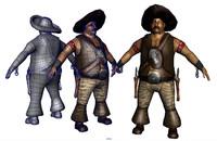 el mexican bandit 3d obj