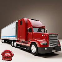 freightliner fld 120 trailer 3d max