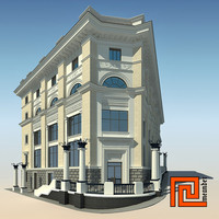 3d building classical style model