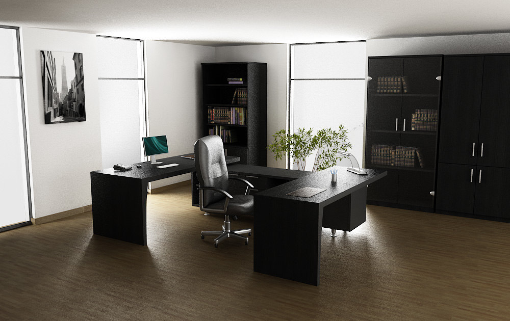 3d office interior 01b for Office design 3d max