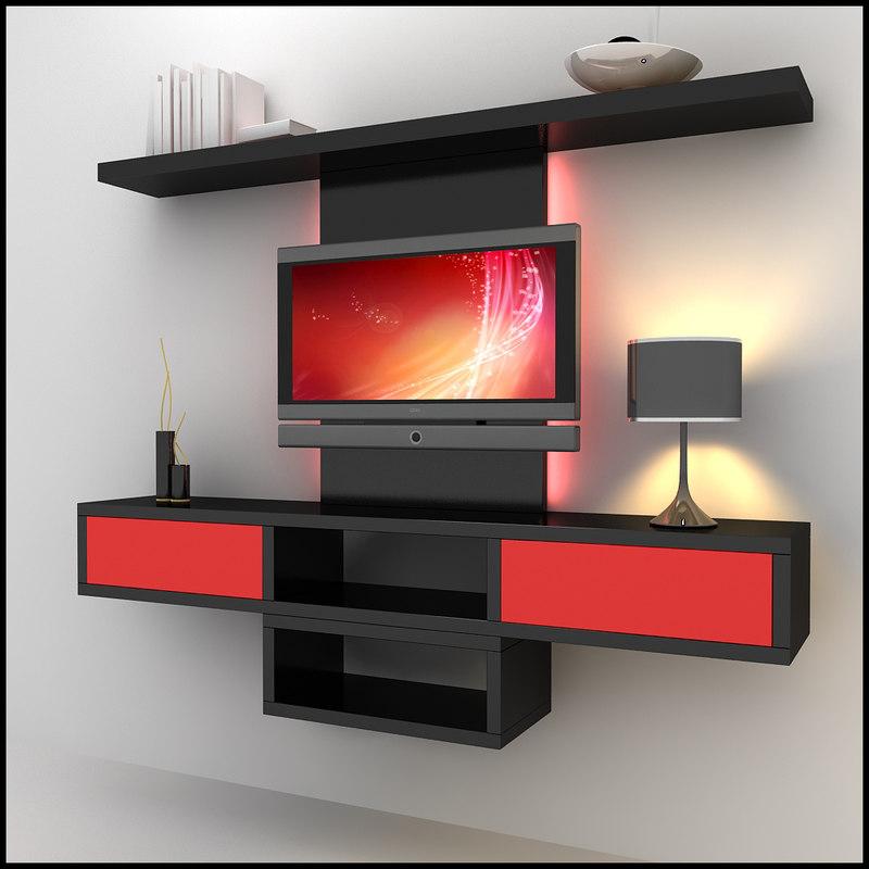 3dsmax modern tv wall unit. Black Bedroom Furniture Sets. Home Design Ideas