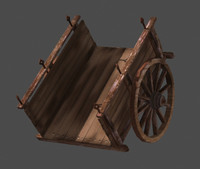 Old cart Lowpoly