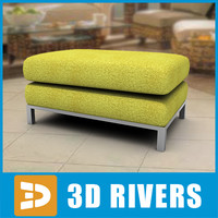 lemon footstool 3d model
