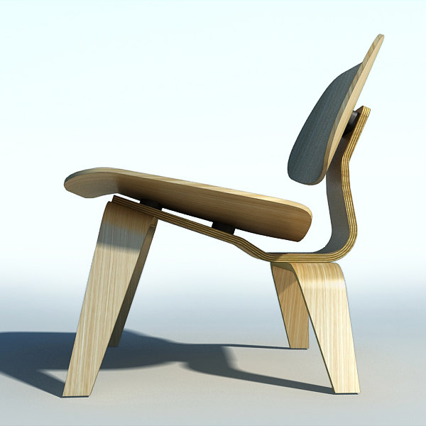 Eames plywood chair 3d 3ds for Icon mobel eames