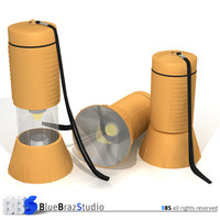 3d model flashlight rendered