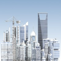 skyscrapers generic 3d model