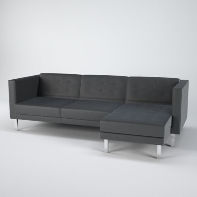 3d Ikea Karlstad Sofa Chair Model