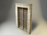 3d model medieval doors