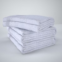 3d model towel bath bathtowels