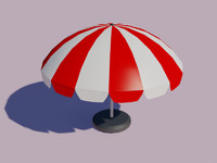 3ds max sun umbrella