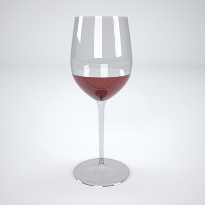 p3d wineglass