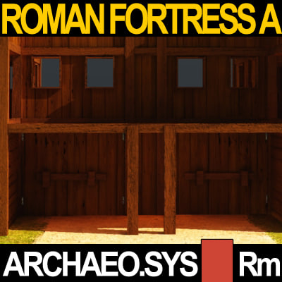 3d Model Legionary Fortress Roman