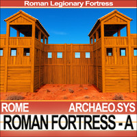 3d model legionary fortress roman