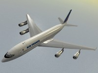 3d model b 707-300 air france