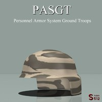 3d pasgt helmet model