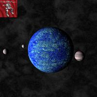 planet moons 3d model