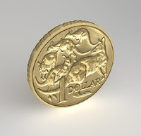 Australian one dollar coin