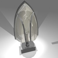 max gothic glass table lamp