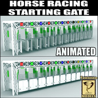Horse Racing - Starting Gates - Animated