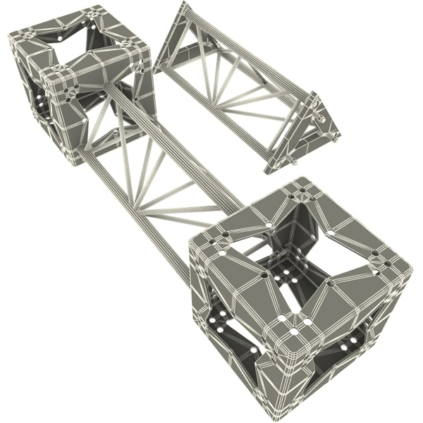 steel truss v3 collections 3d model - Steel Truss collection V3... by 3d_molier