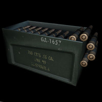3d bullet box machine gun