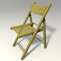 wooden chair 3d 3ds