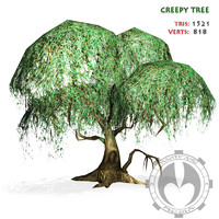 3d model creepy tree