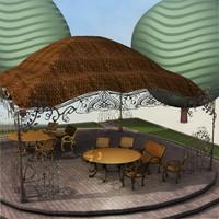 3d model pavilion c