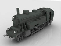 german locomotive ww2 3d model