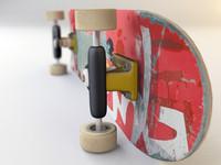 skate board 3d max