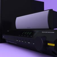3d model sony bravia dav-hdx589w 5
