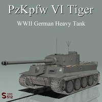 3d model pzkpfw tiger tank